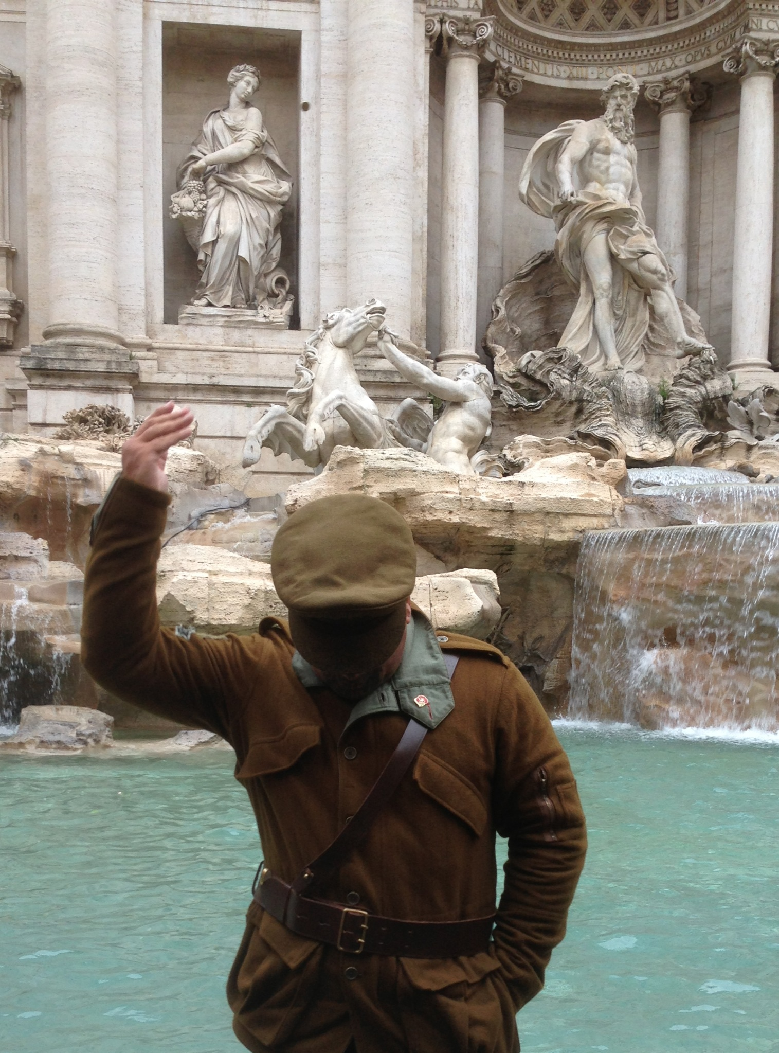 One for good luck, Trevi Fountain, Rome