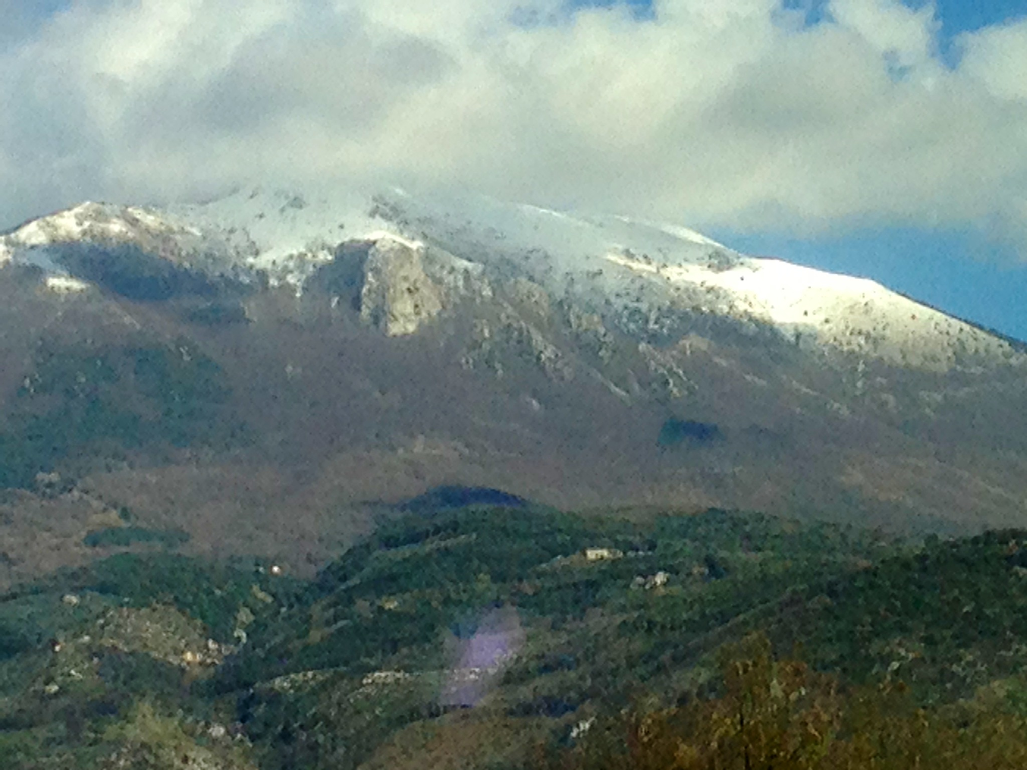 Snow-capped peaks near Cassino